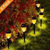 Solar Pathway Lights6 Pack SMY Solar Outdoor LightsGarden Lights Outdoor Landscape Lighting For LawnYardPatio PathwayWalkwayWarm White 0 100x100