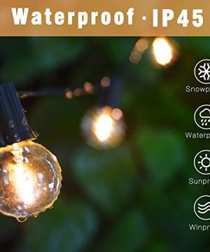 Svater Globe Led String Lights 2x18FT With 10 Hanging Socket 2x10 G40 LED BulbsDimmable 1W 2700K Warm White IP45 Waterproof IndoorOutdoor Patio Lights 0 0 300x360