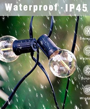 Svater LED Outdoor String Lights 50FT Patio Lights With 46pcs E12 Socket 50pcs 2700K Warm White G40 BulbsIndoorOutdoor Hanging String Lights For Cafe Garden Backyard 0 0 300x360