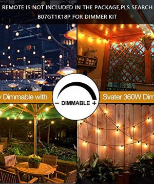 Svater LED Outdoor String Lights 50FT Patio Lights With 46pcs E12 Socket 50pcs 2700K Warm White G40 BulbsIndoorOutdoor Hanging String Lights For Cafe Garden Backyard 0 3 300x360