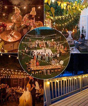 Svater LED Outdoor String Lights 50FT Patio Lights With 46pcs E12 Socket 50pcs 2700K Warm White G40 BulbsIndoorOutdoor Hanging String Lights For Cafe Garden Backyard 0 4 300x360