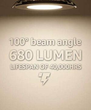 TORCHSTAR Premium 105W 4 Inch Ultra Thin LED Recessed Light With J Box 4000K Cool White Dimmable Slim Panel Downlight 680lm ETL Energy Star 5 Years Warranty Oil Rubbed Bronze Pack Of 6 0 1 300x360