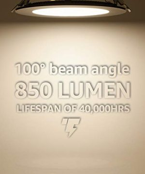 TORCHSTAR Premium 135W 6 Inch Ultra Thin LED Recessed Light With J Box 4000K Cool White Dimmable Slim Panel Downlight 850lm ETL Energy Star 5 Years Warranty Satin Nickel Pack Of 6 0 2 300x360