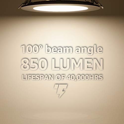 TORCHSTAR Premium 135W 6 Inch Ultra Thin LED Recessed Light With J Box 4000K Cool White Dimmable Slim Panel Downlight 850lm ETL Energy Star 5 Years Warranty Satin Nickel Pack Of 6 0 2