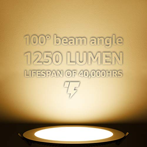 TORCHSTAR Premium 18W 8 Inch Ultra Thin LED Recessed Light With J Box 3000K Warm White Dimmable Slim Panel Downlight 1250lm ETL Energy Star 5 Years Warranty Satin Nickel Pack Of 6 0 1