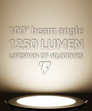 TORCHSTAR Premium 18W 8 Inch Ultra Thin LED Recessed Light With J Box 4000K Cool White Dimmable Slim Panel Downlight 1250lm ETL Energy Star 5 Years Warranty Oil Rubbed Bronze Pack Of 6 0 1 300x360