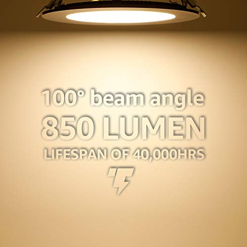TORCHSTAR Premium 6 Inch Slim Panel Downlight With J Box 135W Dimmable Ultra Thin LED Recessed Light 3000K Warm White 850lm ETL Energy Star 5 Year Warranty Oil Rubbed Bronze Pack Of 6 0 3
