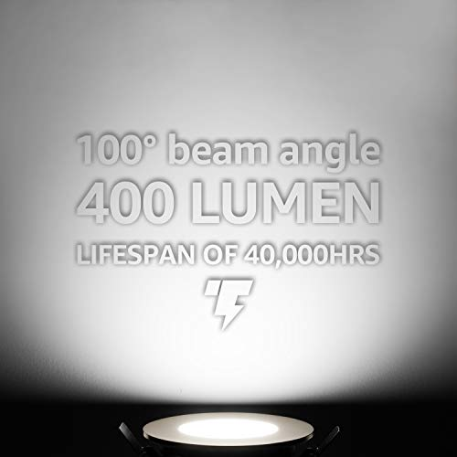 TORCHSTAR Premium 7W 3 Inch Ultra Thin LED Recessed Light With J Box 5000K Daylight Dimmable Slim Panel Downlight 400lm ETL Energy Star 5 Years Warranty Oil Rubbed Bronze Finish Pack Of 6 0 1