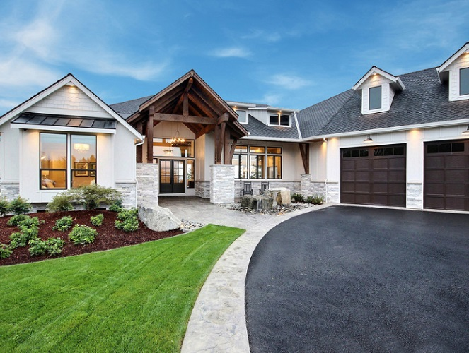 The Aurora 2019 Clark County Parade of Homes Modern Farmhouse Exterior by Cascade West Development