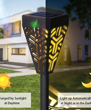 Tomshine Solar Pathway Lights Outdoor Graden Lights Waterproof Landscape Lighting For Porch Yard Walkway Frontdoor Decorative Warm White 6 Pack 0 300x360