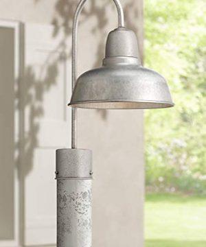 Urban Barn Industrial Outdoor Post Light Fixture Galvanized Steel Vintage 15 34 For Exterior Garden Yard Patio John Timberland 0 300x360