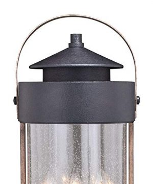 VAXCEL Bronze Outdoor Post Light Dusk To Dawn Post Light Outdoor Lamp Post Light Fixture Photocell Sensor Dark Bronze And Burnished Oak Wood Accents For Farmhouse And Rustic Decor 0 0 300x360
