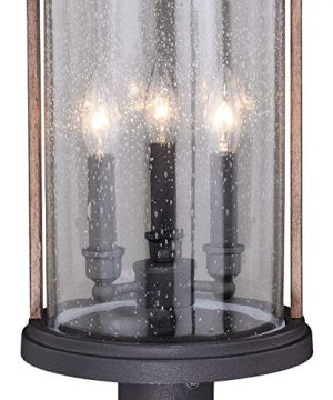 VAXCEL Bronze Outdoor Post Light Dusk To Dawn Post Light Outdoor Lamp Post Light Fixture Photocell Sensor Dark Bronze And Burnished Oak Wood Accents For Farmhouse And Rustic Decor 0 1 300x360