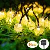Vindany Outdoor Solar String Lights 60 LED Decorative Fairy Lights String Light Solar Crystal Globe Waterproof Party Lights For Christmas Garden Wedding 0 100x100