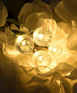 Vindany Outdoor Solar String Lights 60 LED Decorative Fairy Lights String Light Solar Crystal Globe Waterproof Party Lights For Christmas Garden Wedding 0 4 300x360
