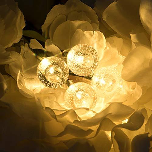 Vindany Outdoor Solar String Lights 60 LED Decorative Fairy Lights String Light Solar Crystal Globe Waterproof Party Lights For Christmas Garden Wedding 0 4
