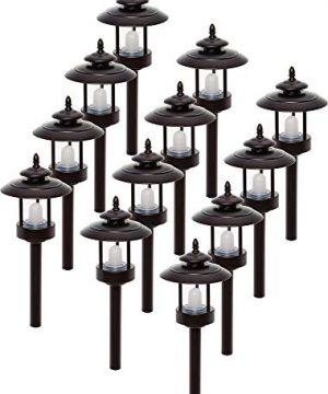 Westinghouse 12 Pack 100 Lumen Low Voltage LED Pathway Light Landscape Lights Bronze 0 300x360