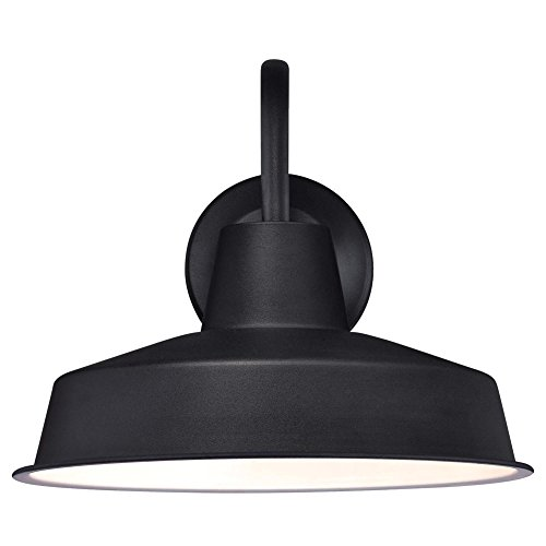 Westinghouse Lighting 6204700 Academy One Light LED Wall Fixture Textured Finish With Chrome Cage Black IndoorOutdoor 0 0