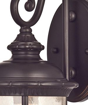 Westinghouse Lighting 6230600 New Haven One Light Exterior Wall Lantern On Steel With Clear Seeded Glass Oil Rubbed Bronze Finish 0 0 300x360