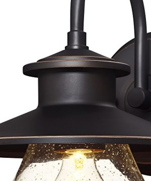 Westinghouse Lighting 6313500 Delmont One Light Outdoor Wall Fixture Oil Rubbed Bronze Finish With Highlights With Clear Seeded Glass 0 1 300x360