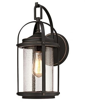 Westinghouse Lighting 6339300 Grandview One Light Outdoor Wall Fixture Oil Rubbed Bronze Finish With Highlights And Clear Seeded Glass 0 300x360