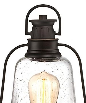 Westinghouse Lighting 6347000 Brynn One Light Outdoor Post Top Fixture Oil Rubbed Bronze Finish With Highlights And Clear Seeded Glass 0 1 300x360