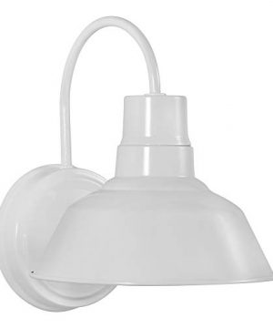 White Gooseneck LED Wall Sconce Barn Light Fixture Industrial Antique Farmhouse Style Vintage Patio Porch Wall Mount Light IndoorOutdoor UL Listed 9W 800lm Cool White 0 300x360