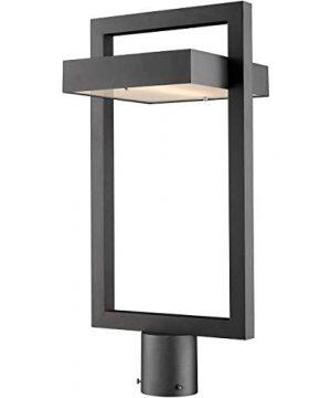Z Lite 566PHBR BK LED 1 Light Outdoor Post Mount Fixture Black 0 300x360