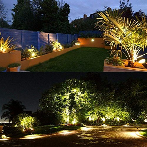 ZUCKEO 5W LED Landscape Lights 12V 24V Garden Lights Waterproof Warm White Walls Trees Flags Outdoor Landscape Spotlights With Stakes 8 Pack 0 4