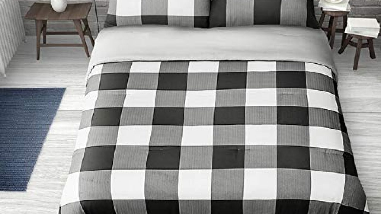 2 Pieces Twin Farmhouse Comforter Set Squares Pattern Buffalo Check Vibrant Rustic Bedding Classic Countryside Modern Farmhouse Goals