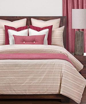 6 Piece Farmhouse Comforter Set Twin Sun Stained Stripes Of Well Worn Brick Elegant Modern Contemporary Warm Soft Cozy Comfy Down Alternative Bedding Cotton Blend Microfiber 0 300x360