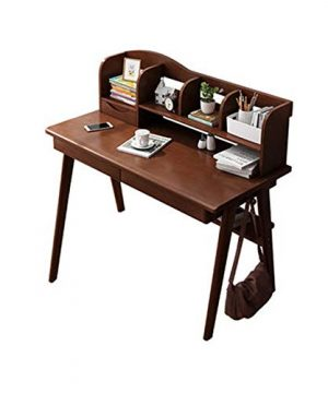 A Simple Combination Of Solid Wood Desk Bookshelf Home Computer Desk Table Student Desk Writing Desk Health Environmental ProtectionA12M 0 300x360