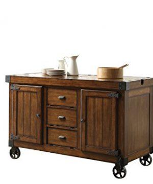 ACME Furniture 98186 Kabili Kitchen Cart Antique Tobacco 0 300x360