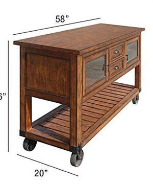 ACME Kadri Kitchen Cart Distressed Chestnut 0 300x360