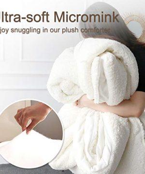 ARIGHTEX Super Soft Sherpa Comforter Bed Set 3D Lightweight Fuzzy Duvet Blankets Polyester Filler Bedspreads With 2 Pillow Shams Orange Fox Twin 0 1 300x360