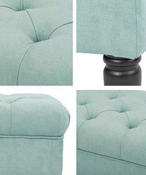 Adeco Modern Mid Century Ottoman Stool Seat 21x17x19 Light Blue 0 1 300x360