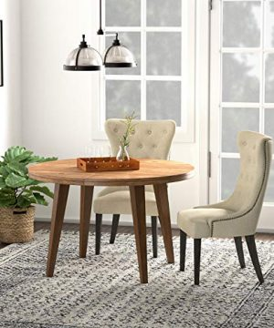 Amazon Brand Stone Beam Dining Chair With Deep Tufting 42H Hemp 0 4 300x360