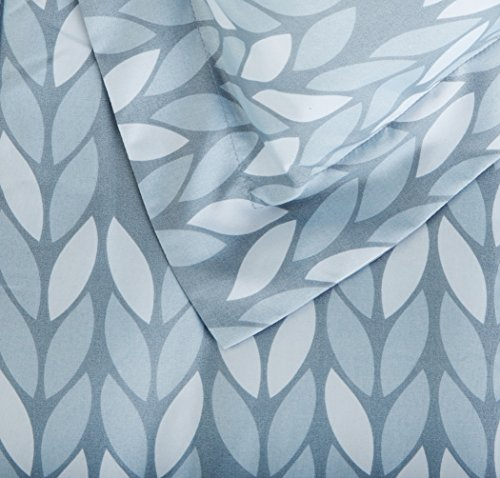 AmazonBasics 5 Piece Light Weight Microfiber Bed In A Bag Comforter Bedding Set Twin Or Twin XL Grey Leaf 0 2