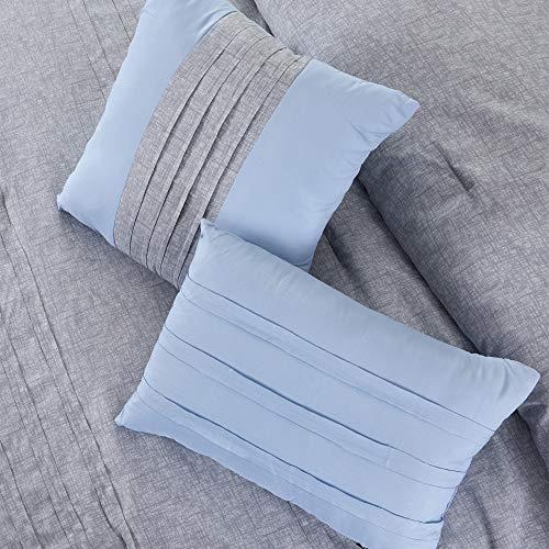 Amrapur Overseas 10 Piece Bryan Printed Comforter Set Queen Grey 0 4