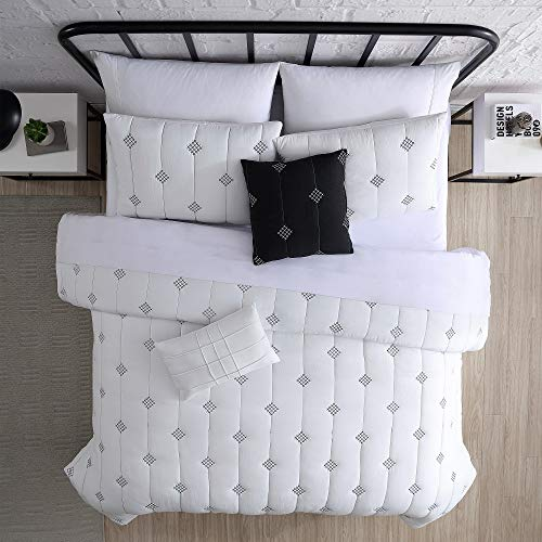 Amrapur Overseas 5 Piece Eve Embroidered Garment Washed Comforter Set Queen Ivory 0 1