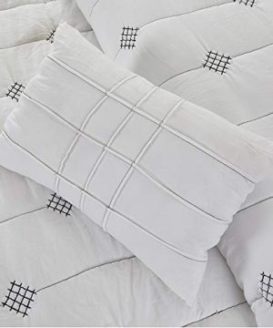 Amrapur Overseas 5 Piece Eve Embroidered Garment Washed Comforter Set Queen Ivory 0 3 300x360