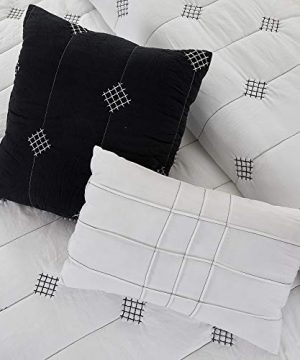 Amrapur Overseas 5 Piece Eve Embroidered Garment Washed Comforter Set Queen Ivory 0 4 300x360