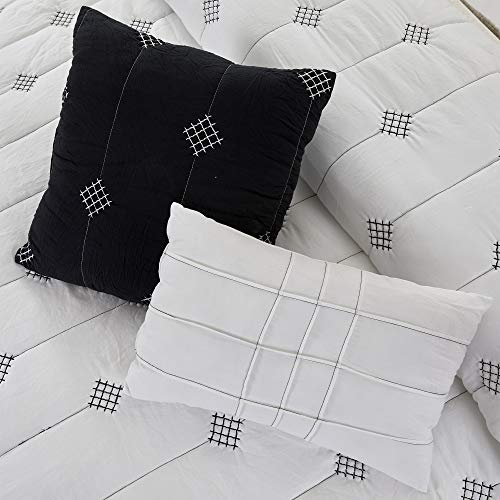 Amrapur Overseas 5 Piece Eve Embroidered Garment Washed Comforter Set Queen Ivory 0 4