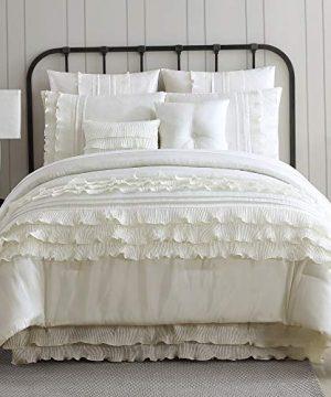 Amrapur Overseas Diana 8 Piece Embellished Comforter Set King Pearl White 0 0 300x360