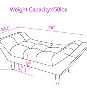 Andeworld Gray Fabric Bed Bench Upholstered Tufted Footstool Entryway Ottoman Bench Two Seaters 0 1 300x360