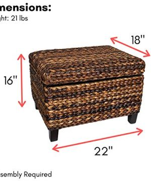 BIRDROCK HOME Woven Seagrass Storage Ottoman With Safety Hinges 0 0 300x360