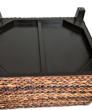 BIRDROCK HOME Woven Seagrass Storage Ottoman With Safety Hinges 0 4 300x360