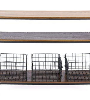 Baxton Studio Lancashire Wood And Metal Kitchen Cart Brown 0 0 300x334