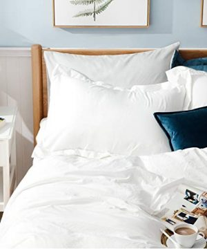 Bedsure White Washed Duvet Cover Set Twin Size With Zipper ClosureUltra Soft Hypoallergenic Comforter Cover Sets 2 Pieces 1 Duvet Cover 1 Pillow Sham 68X90 Inches 0 0 300x360