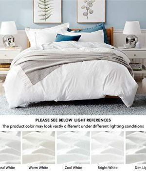 Bedsure White Washed Duvet Cover Set Twin Size With Zipper ClosureUltra Soft Hypoallergenic Comforter Cover Sets 2 Pieces 1 Duvet Cover 1 Pillow Sham 68X90 Inches 0 4 300x360